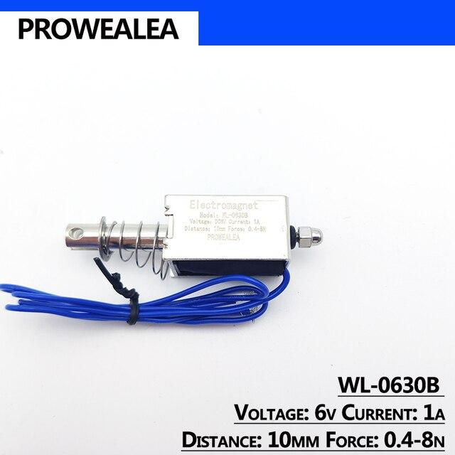 Фото электромагнит с нажимным вытяжением модель wl 0630b 5 в 6 в