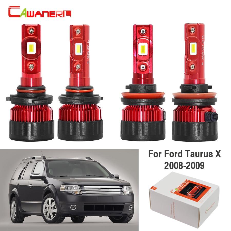 Cawanerl 4 шт. Автомобиль H11 9005 светодиодный фары лампы дальнего света + ближнего света 60 Вт белый 9000лм 12 В для Ford aurus X 2008 2009