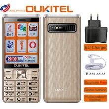 Oukitel L2801 cep telefonu 2.8 inç 2800mAh üçlü SIM kart yaşlı kıdemli cep telefonu kamera müzik Bluetooth Java MP3 oyuncu meşale