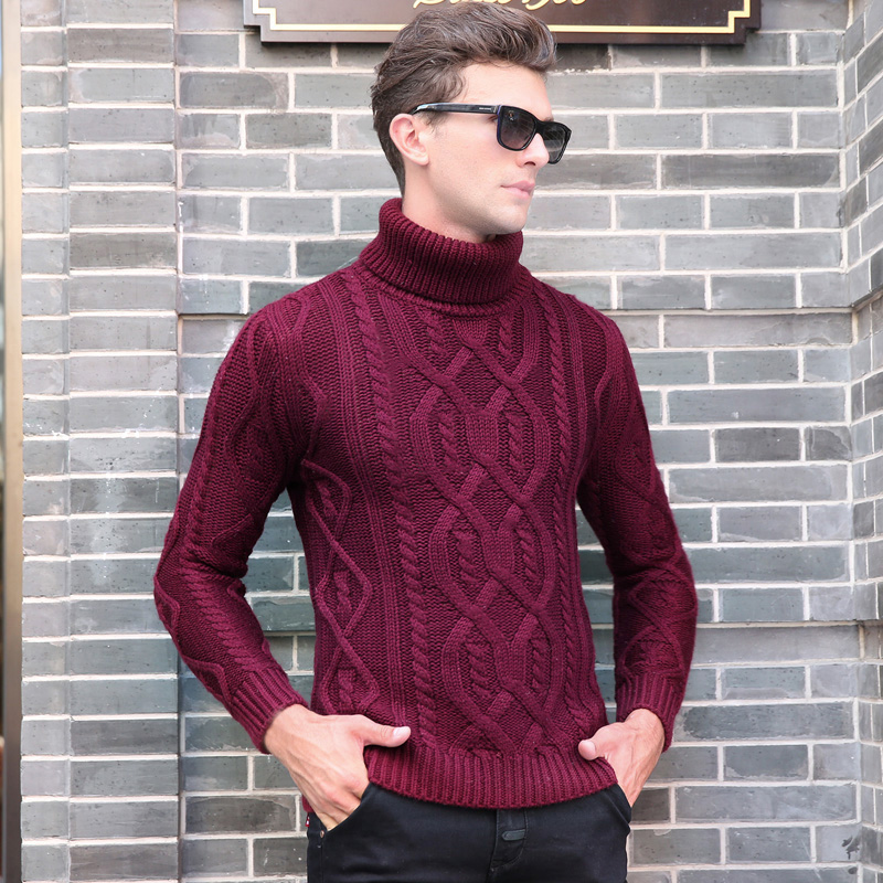 2019 New Fashion Brand Sweater Mens Pullover Thick Slim Fit Jumpers Knitting High Quality Autumn Korean Style Casual Men Clothes