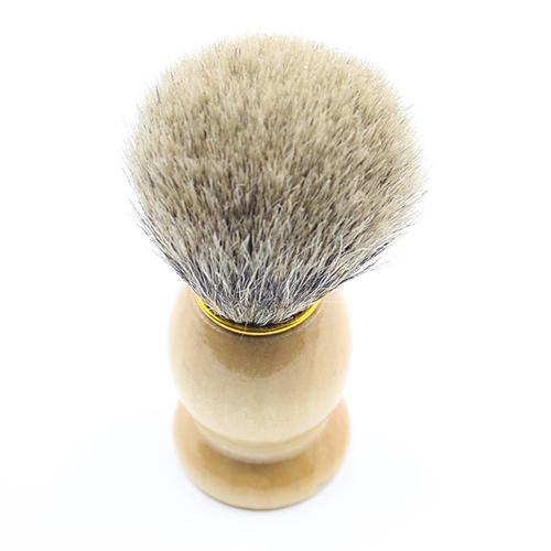 Synthetic Hair Shaving Brush With Wood Handle For Man Shave Tool