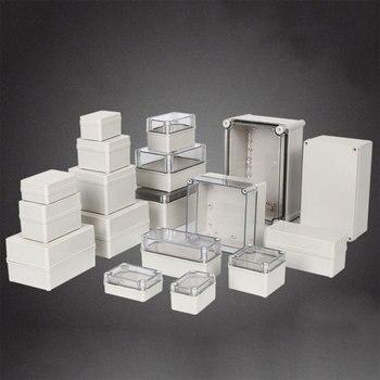 цена на Plastic Dustproof Waterproof IP67 Junction Box Universal Electrical Project Enclosure Grey ABS Housing Box