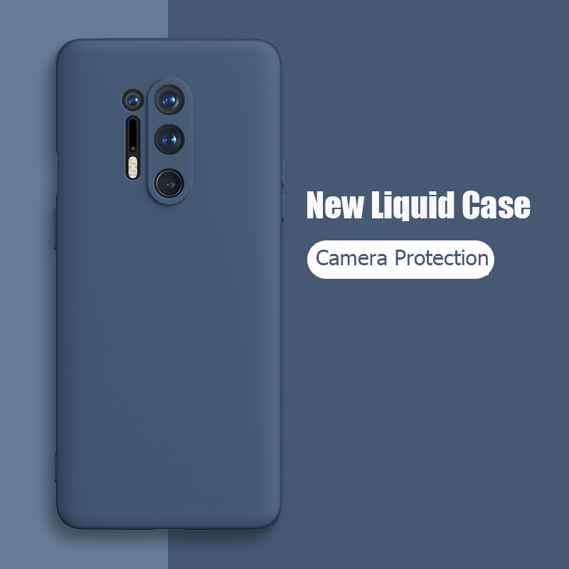 For OnePlus 8 Pro Case Liquid Silicone Soft Matte Camera Protection Cover For One Plus 8 Pro OnePlus8 OnePlus 7 Pro Phone Cases(China)