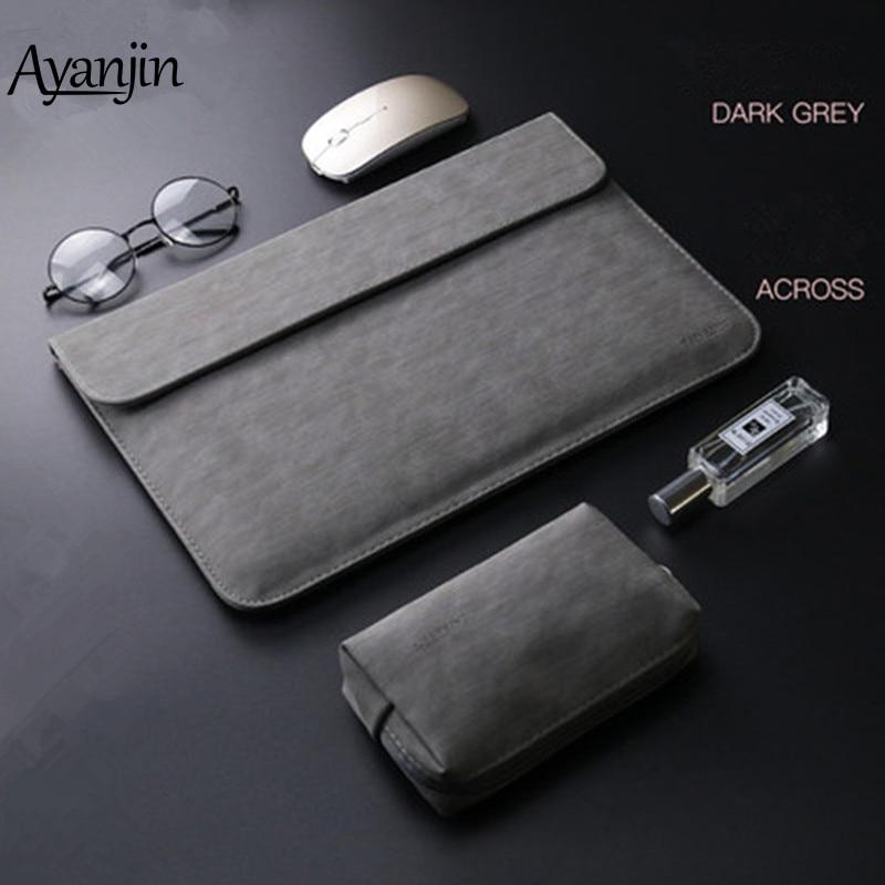"11/"" 13/"" 15"" PU Leather Sleeve Laptop Notebook Zip Bag Case For Apple Macbook US"