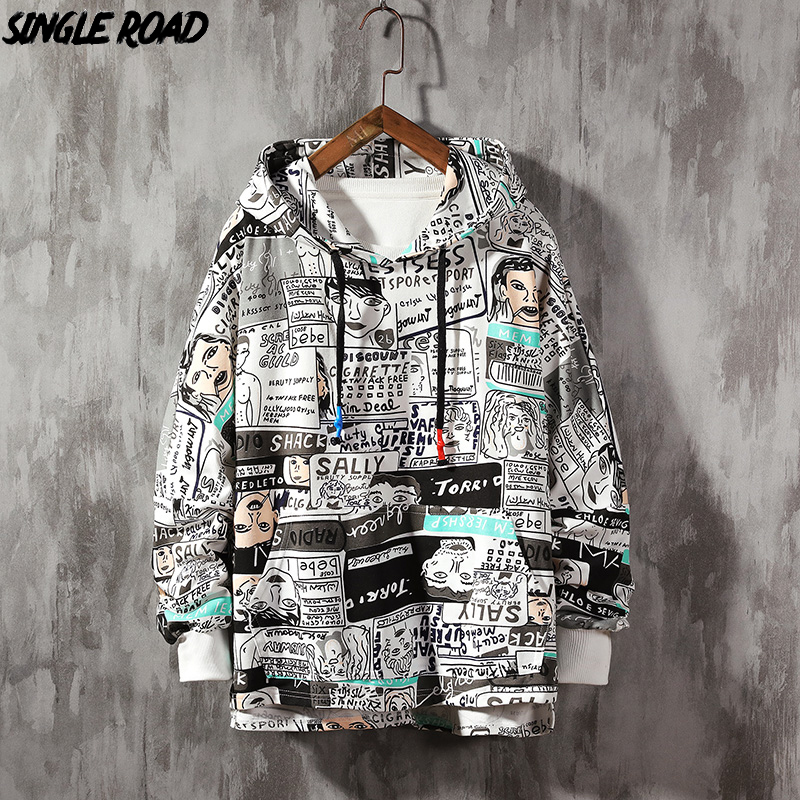 SingleRoad Mens Hoodies 2020 Spring Oversized Japanese Streetwear Sweatshirt Hip Hop Harajuku Sweatshirts Male Anime Hoodie Men