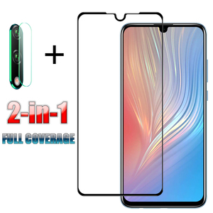 2 in 1 Full Cover Tempered Glass For Huawei P20 P30 P40 Lite P20 Pro Screen Protector For Huawei Honor 8X 9X 9 10 Lite 10i 20i(China)