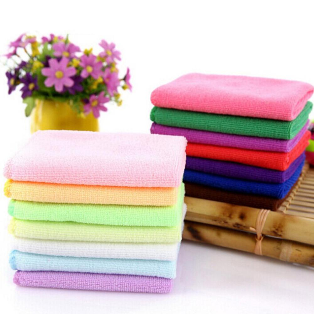 Durable Water Absorbent Microfiber Soft Car Washing Solid Color Fast Drying Hand Towel Carros Exterior Automobile Boutique Hot