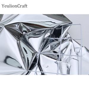 Image 5 - Chzimade 50x137cm srebrne lustro odblaskowe tkaniny wodoodporne ubrania kreatywne ubranie dwustronne srebrne lustro TPU tkaniny