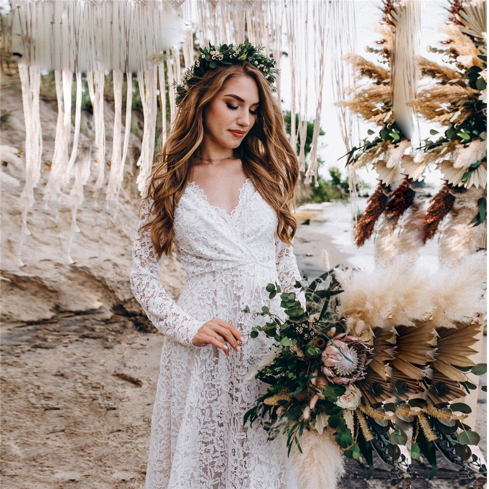 White Lace Maternity Photography Props Dresses Sexy Fancy Pregnancy Dress For Photo Shooting Long Pregnant Women Maxi Gown 2020 (7)