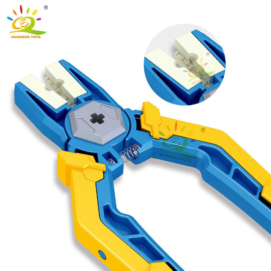 Huiqibao Technic Serie Sloop Van Blokken Pin Tangen Tangen Tool Onderdelen Apparaat Bricks Educatief Diy Speelgoed Voor Kinderen Jongens