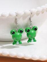 Stillgirl Cute Frog 3D Pendant Earrings for Women Kpop Animal Couple Fashion Ears Jewelry Gift Pendientes Boucle Oreille Femme