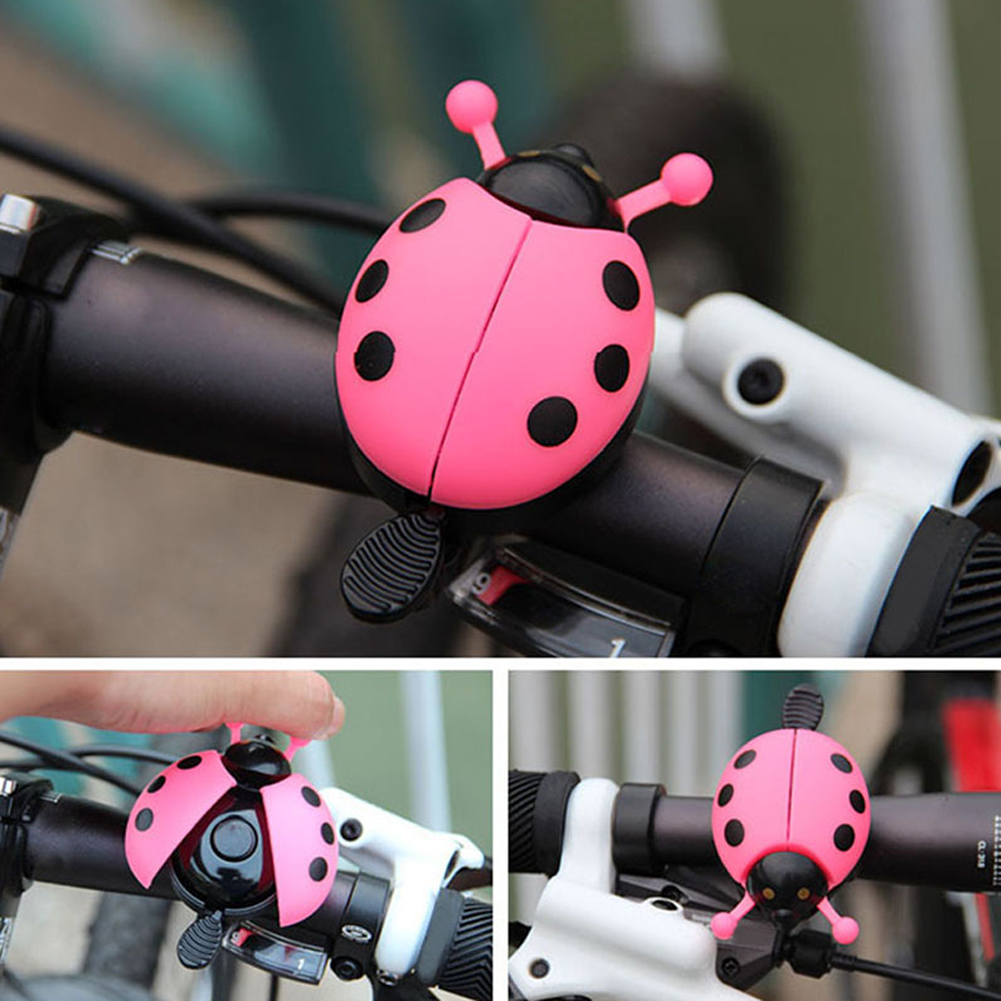 Mini Lovely Beetle Cartoon Ladybug Ring Bicycle Bell Ring Aluminum Alloy Bike Bell For Cycling Bike Bell Ride Horn Alarm