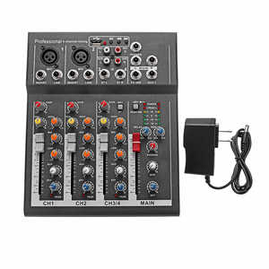 Image 2 - LEORY ミニデジタルカラオケマイクアンプ混合オーディオサウンドミキサーコンソール 4 チャンネル内蔵 48 48v ファンタム電源と USB