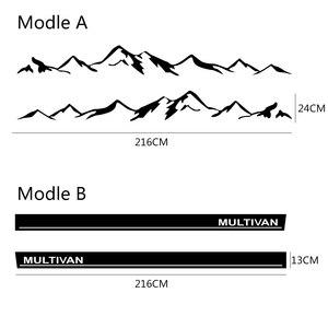 Image 5 - 2 pezzi strisce laterali adesivi per Auto pellicola in vinile Auto Mountain Decal per Volkswagen Multivan Toyota Elfa Styling accessori Tuning Auto