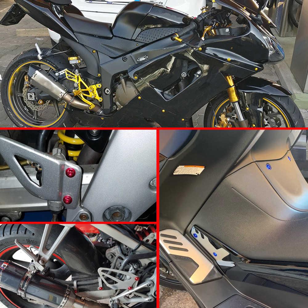 Universal Motor Hadiah Sekrup Pengikat Klip Tubuh Spring Baut Kit Untuk Suzuki Hayabusa GSXR1300 SV TL 1000 DL650 GSR600