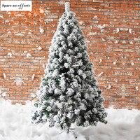 Árbol de Navidad Artificial con nieve decoración de fiesta de año nuevo, para el hogar, adornos, árboles de Navidad, decoración, árbol de Pines, 2021
