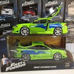 JADA 1/24 форсаж, автомобили, BRIANS, Mitsubishi Eclipse, коллекционное издание, металл, литье под давлением, модели автомобилей, детские игрушки
