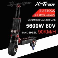 ЕС наличии 85км/ч Электрический скутер 5600 Вт Двойной Мотор Электрический Скутер мопед 13 дюймов шины удар масло для скутеров тормозной двухко...