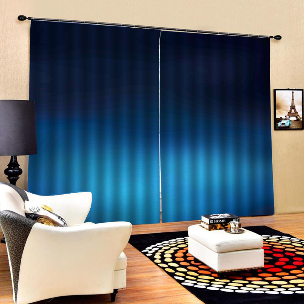 Decoration curtains blue curtains indow Blackout Luxury 3D Curtains set For Bed room Living room Office Hotel Home Wall Blackou