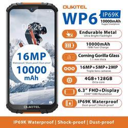 OUKITEL WP6 смартфон с восьмиядерным процессором MT6771, ОЗУ 4 Гб, ПЗУ 128 ГБ, 10000 мАч, 16 МП