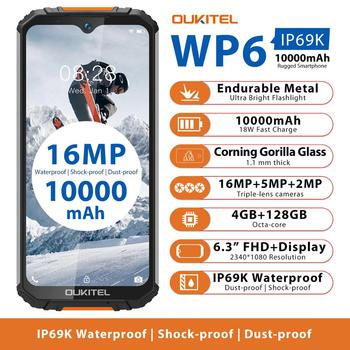 OUKITEL WP6 IP68 Rugged Waterproof 4GB 128GB MT6771 Octa Core 9V/2A 10000mAh 16MP Triple Camera Android 9.0 Mobile Phone - discount item  25% OFF Mobile Phones