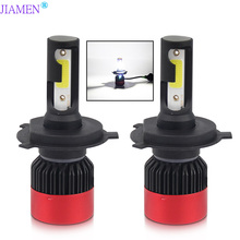 JIAMEN Led Light for Auto H1 H4 9005 9006 HB3 HB4 Small Size Bulbs Cars Headlight Lamp H7 LED Headlamp
