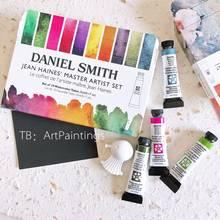 Conjunto de pintura americana de aquarela, tubo sólido, material de arte para artes, mineral, alvaro, 10 cores