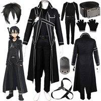 Inspired By Sword Art Online Kirito Cosplay Costume SAO Kirigaya Kazuto Halloween