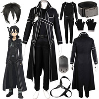 Inspired By Sword Art Online Kirito Cosplay Costume SAO Kirigaya Kazuto Halloween