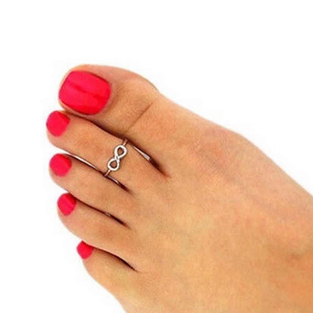 Новые модные бесконечные символ любви женские кольца номер 8 футов золотистое кольцо и серебряный цвет очаровательные украшения для тела