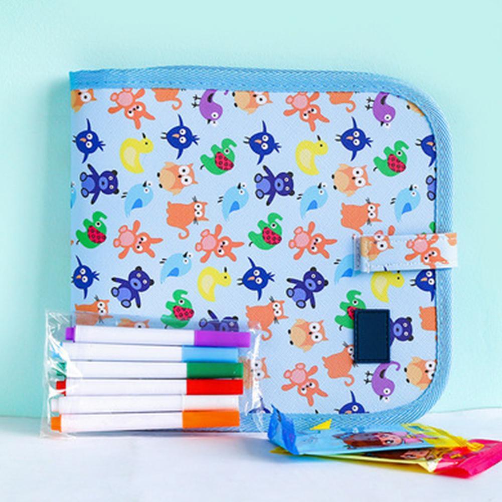 Children Erasable Drawing Block Reusable Notepad Sketchbook Portable Sketchbook With Markers For Kids Toddlers