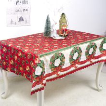 Christmas Table Decorations Polyester Printed Tablecloth Coffee Anti-staining Cloth