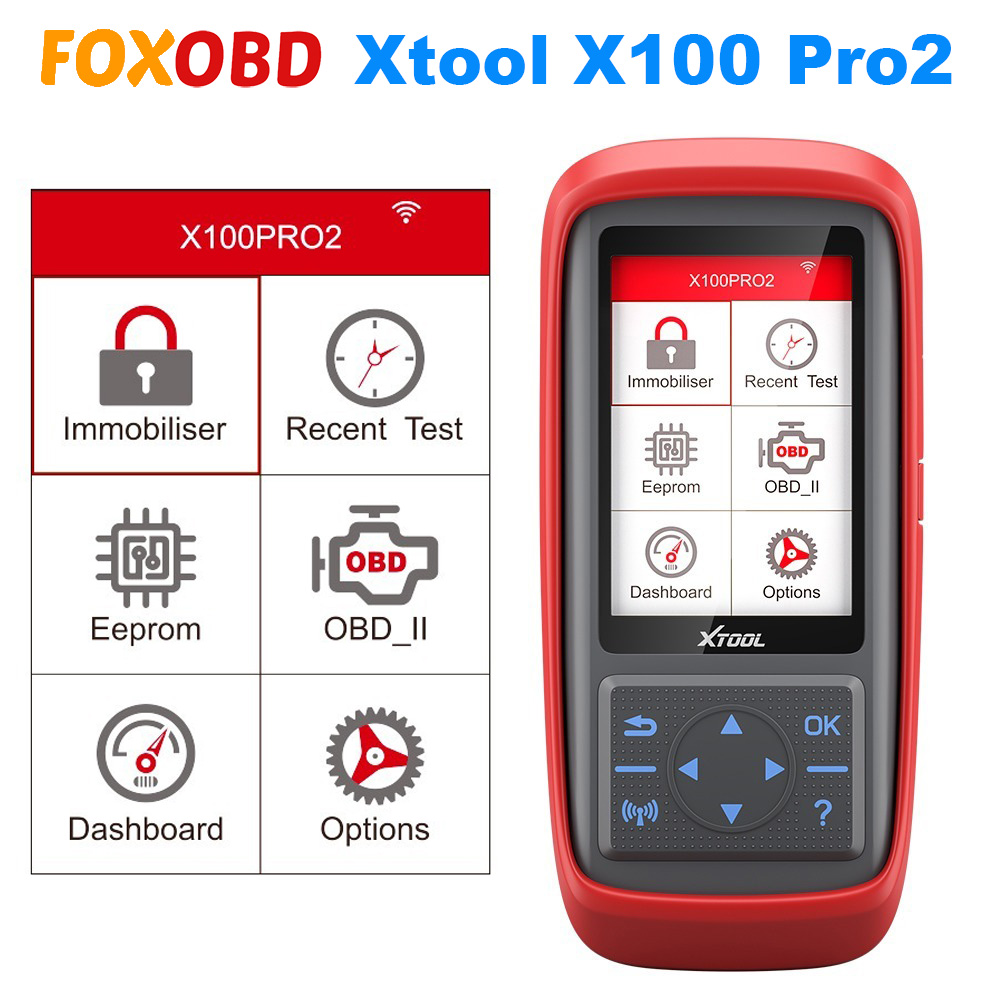 Newest XTOOL X100 Pro Pro2 OBD2 Car Auto Key Programmer/Mileage adjustment Including EEPROM Code Reader with Free Update