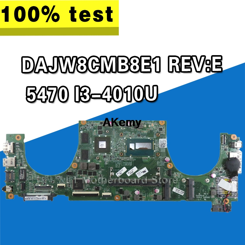 DAJW8CMB8E1 Laptop Motherboard For Dell Vostro 5470 Original Mainboard I3-4010U GT740M