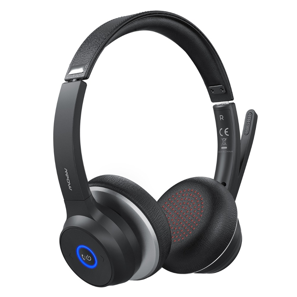 Mpow HC5 Wireless Headphones Bluetooth 5.0 Headset With CVC8.0 Noise Cancelling Microphpne Mute Control Button For PC Computer (8)