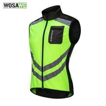 Wosawe jaqueta refletiva alta visibilidade, colete motocross, corrida à noite, roupa de segurança