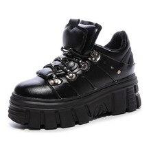 Светильник; обувь на платформе с толстой подошвой; повседневные кроссовки на высоком каблуке; обувь из натуральной кожи на шнуровке; женская теплая зимняя обувь