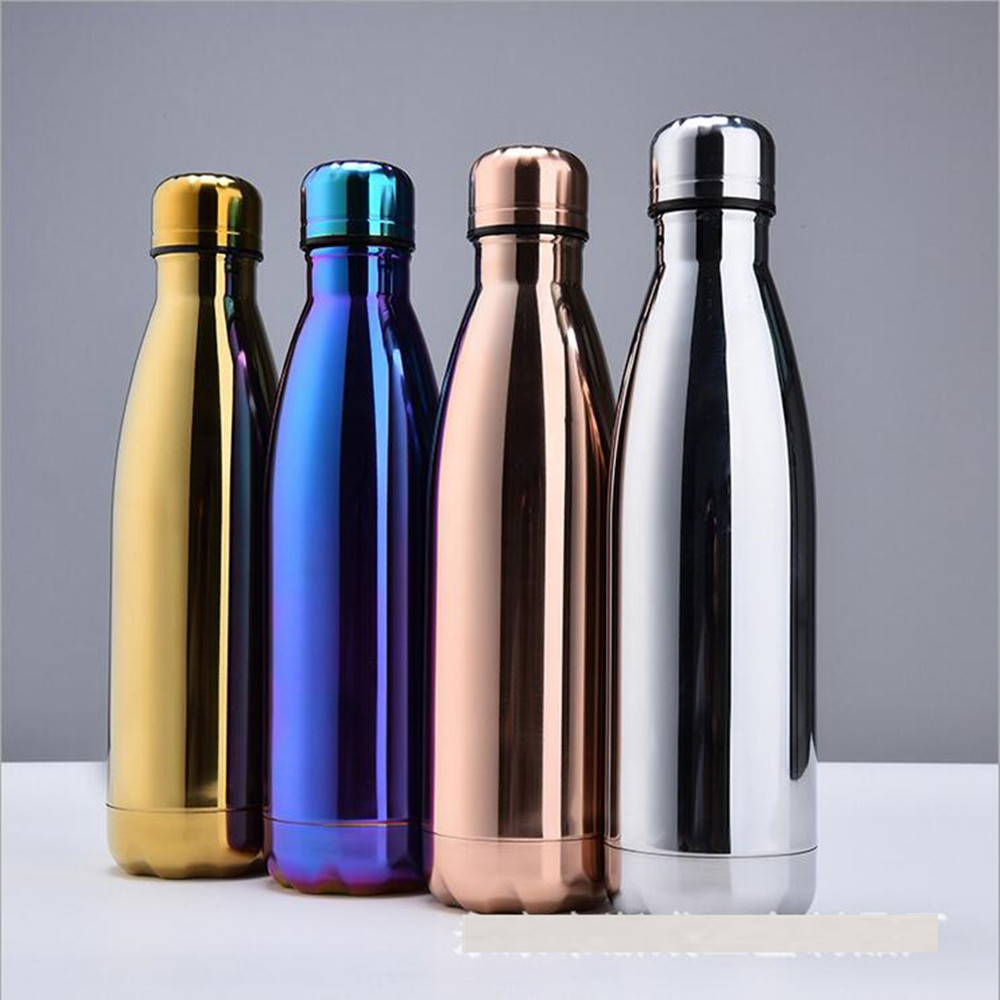 500/1000ml Double Wall Insulated Vacuum Flask Stainless Steel Water Bottle Cola Water Beer Thermos for Sport Bottle|Water Bottles| |  - AliExpress