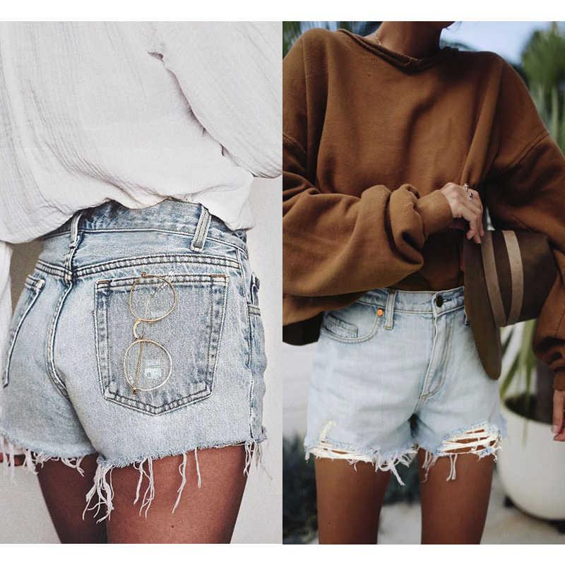 Werynica 2020 jean shorts a vita alta biker breve delle donne di estate clothig strappato sexy shorts in denim per le donne ropa de mujer