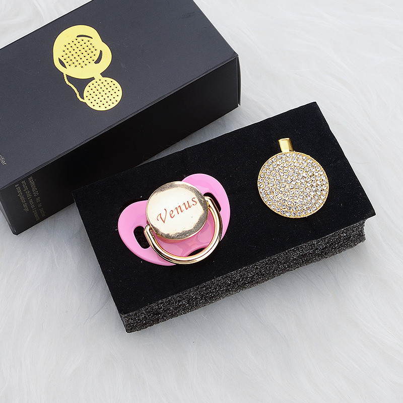 miyocar personalizado qualquer nome pode fazer todo o ouro que bling chupeta e chupeta clipe bpa