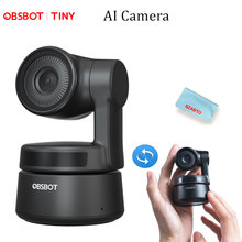 OBSBOT Tiny AI-Powered PTZ Webcam, Full HD 1080p Video Conferencing, Recording and Streaming