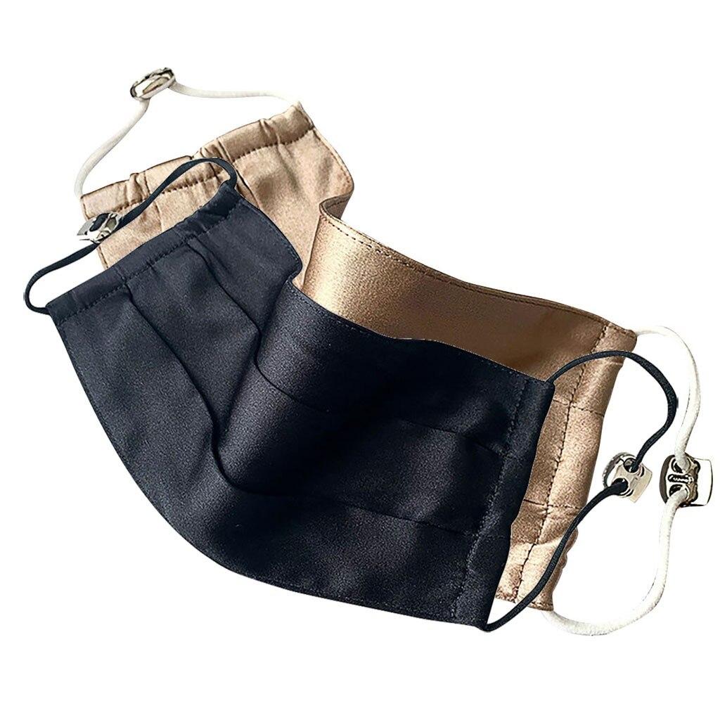 Шелковая Маска для мужчин и женщин 2 шт., атласная ткань, ультратонкая двухслойная эластичная повязка на голову, для лета