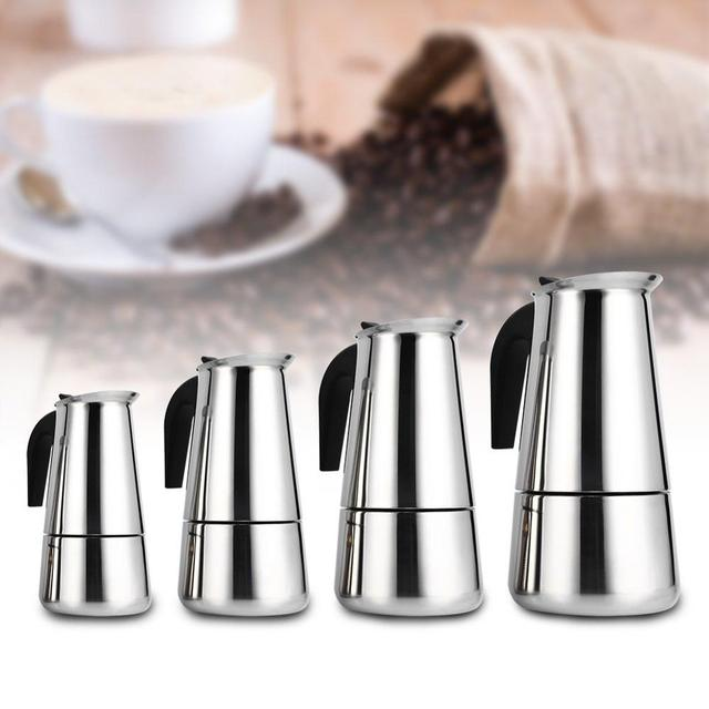 Stainless Steel Coffee Pot Mocha Espresso Latte Percolator Stove Coffee Maker Pot Percolator Drink Tool Cafetiere Latte Stovetop 1
