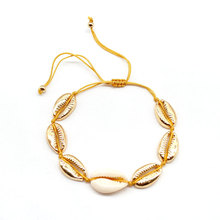 Fashion Hand Woven Gold Silver Shell Rope Chain Bracelets Bohemian Beach Beads Women Charm Bracelet
