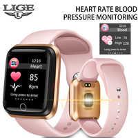 LIGE 2019 Neue Frauen Smart Uhr Wasserdichte Fitness Tracker Heart Rate Monitor Schrittzähler Sport Uhr Für Android ios smartwatch