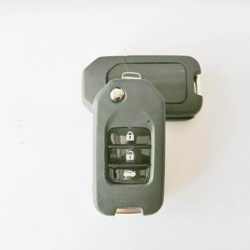 Folding Car Key Flip Key Shell Stying Cover Case 2 3 Button Remote Key Cover Smart Key Case For Honda CRV New Accord With Logo-1