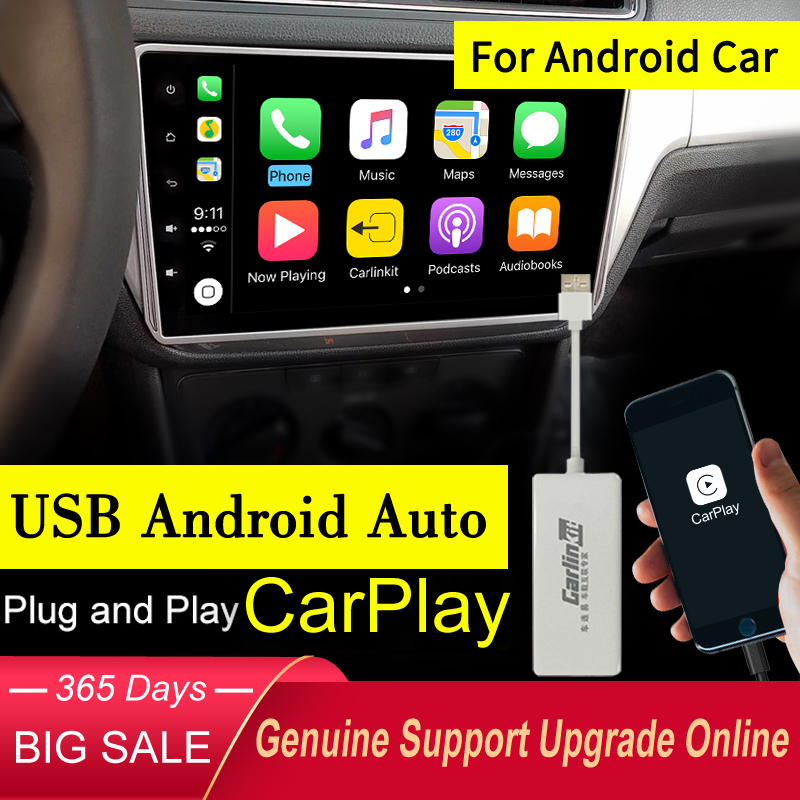 Carlinkit USB Apple Carplay Dongle for Android Auto iPhone iOS12 Carplay Support Android Car Navigation Player