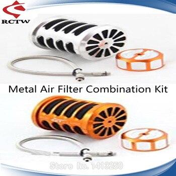 Metal Air Filter Combination Kit for 1/5 GTB Racing Hpi Rofun Rovan Km Baja 5B 5T 5SC Rc Car Parts
