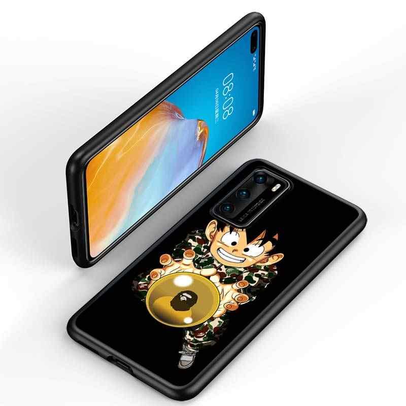 Sıcak Dragon Ball Goku stil Huawei P40 P30 P20 Pro P10 P9 P8 Lite E Pro P akıllı Z artı 2020 2019 telefon kılıfı