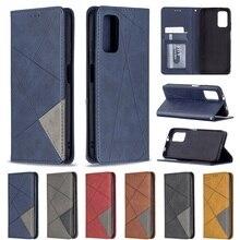 Linear Leder Brieftasche Flip Cover Fall Für Xiaomi Redmi Hinweis 10 Pro Note10 10S Magnetische Capa Karte Halter Weichen silikon Fundas